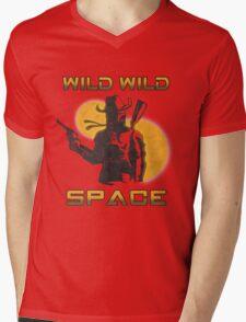 Wild Wild Space Bounty Hunter Mens V-Neck T-Shirt