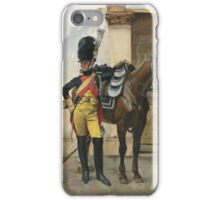 François Flameng  FRENCH AN ELITE SOLDIER OF THE IMPERIAL GUARD iPhone Case/Skin