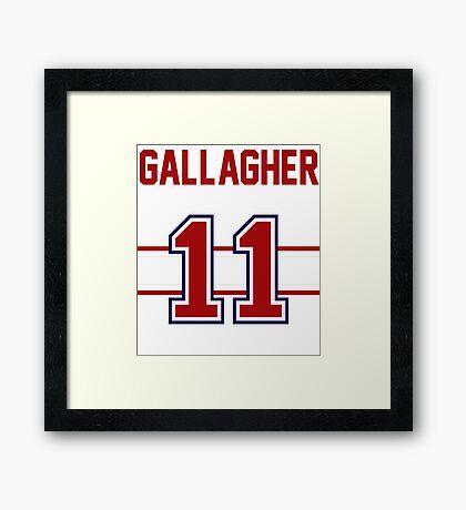 Brendan Gallagher - RED Framed Print