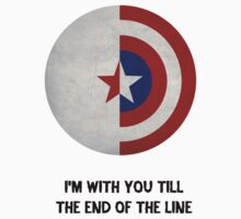 Cap and Bucky Black Text Kids Clothes