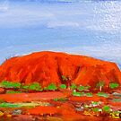 "Uluru , ""postcard size art piece "" by Virginia McGowan"