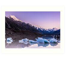 Tasman Glacier Lake - New Zealand Art Print