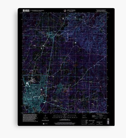 USGS TOPO Map Arkansas AR Magnolia 258996 2000 24000 Inverted Canvas Print