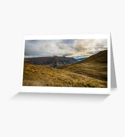 View from Crown Range Road Greeting Card