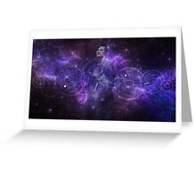 Eleventh Doctor Who Galaxy Greeting Card