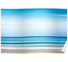 Abstract background. Sea and coastline. Poster