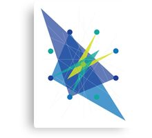 Double Arrow Octagon  Canvas Print