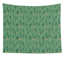 Fox in the woods. Wall Tapestry