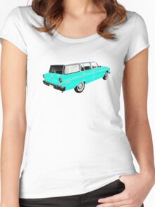XM Falcon Wagon (Blue) Women's Fitted Scoop T-Shirt