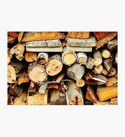 Stacked wood timber for construction Photographic Print