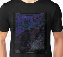 USGS TOPO Map Arkansas AR Fort Smith 258489 1987 24000 Inverted Unisex T-Shirt