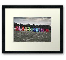Happy 40th Birthday Glastonbury Framed Print