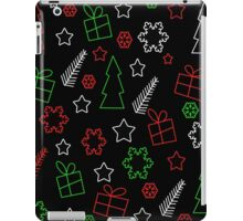Green and red Xmas pattern iPad Case/Skin