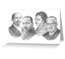 civil-rights icons drawing Greeting Card