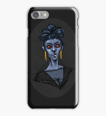 Portrait of a Chiss Librarian  iPhone Case/Skin