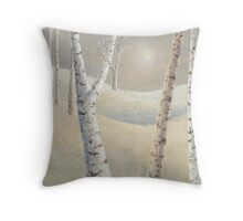 The silence of snow Throw Pillow
