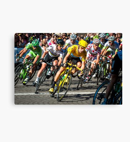 Tour de France 2012 champs elysees Canvas Print