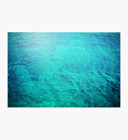 Abstract blue water background Photographic Print