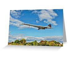Concorde On Finals Greeting Card