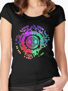 Skycode; Sombra (Digital Multicolor) Women's Fitted Scoop T-Shirt