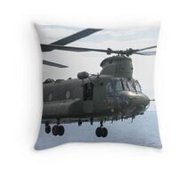 RAF Chinook up close and personal Throw Pillow