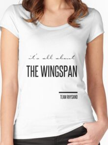 it's all about the wingspan Women's Fitted Scoop T-Shirt