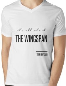it's all about the wingspan Mens V-Neck T-Shirt