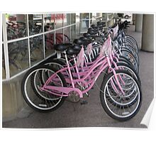 Pink Bicycles Poster