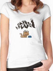 Waiting Kawaii Cat - Chat Kawaii Women's Fitted Scoop T-Shirt