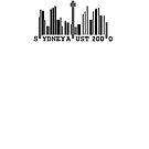 Sydney Skyline Barcode by Jason Langer