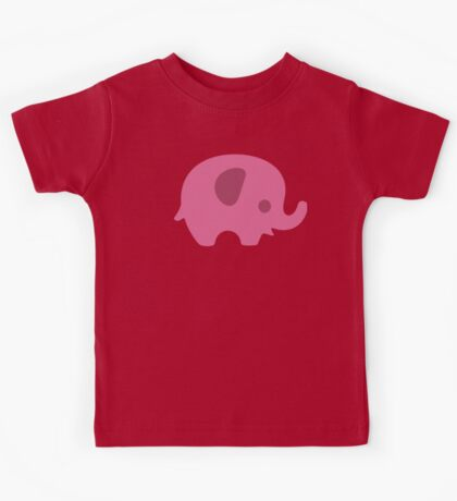 Baby Elephant - Pastel Pink and Peach Kids Tee