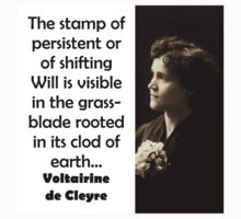 The Stamp Of Persistent - de Cleyre Baby Tee