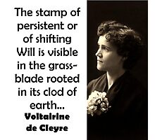 The Stamp Of Persistent - de Cleyre Photographic Print