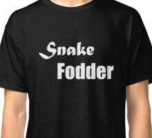 Larger Snake Fodder text Classic T-Shirt