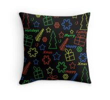 Playful Xmas pattern Throw Pillow