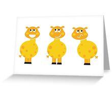 New in shop : Yellow giraffe cartoon characters Greeting Card