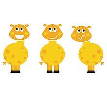 New in shop : Yellow giraffe cartoon characters Photographic Print