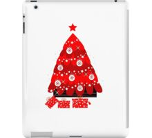 Retro Tree with christmas gifts : retro red iPad Case/Skin