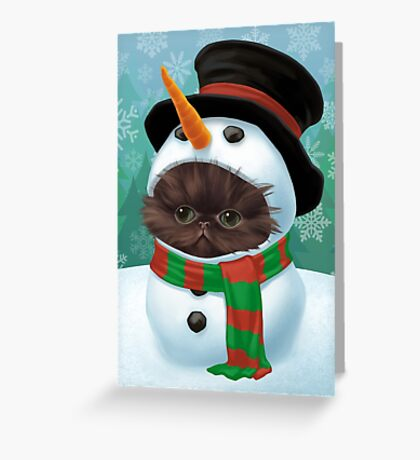 Cataclysm - Persian Kitten (Christmas Edition) Greeting Card
