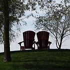 Chairs on the Hill  by Marie Van Schie