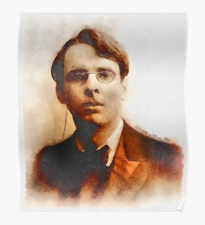 W.B. Yeats, Author & Poet Poster
