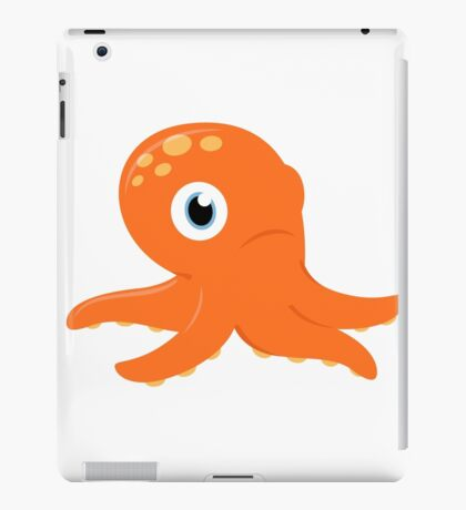 Orange underwater Octopus : for Kids iPad Case/Skin