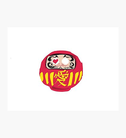 Love Daruma Photographic Print