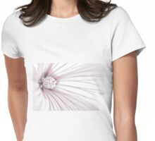 Lavatera Flower Stamen Macro  Womens Fitted T-Shirt