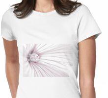 Lavatera Flower Stamen Macro  Womens Fitted T-Shirt