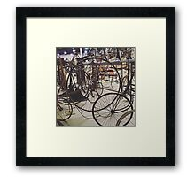 Antique Bicycles Framed Print
