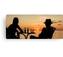 Looking at the Sunset Canvas Print