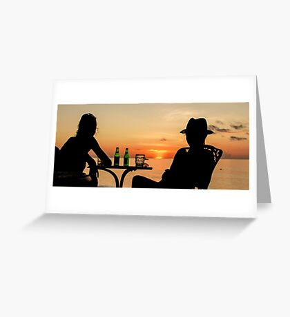 Looking at the Sunset Greeting Card