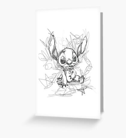 Stitch Scribble Greeting Card