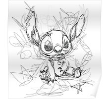 Stitch Scribble Poster